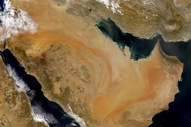 アラビア半島の衛生画像