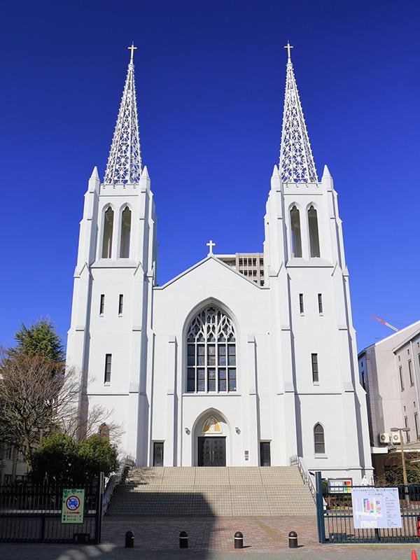名古屋教区の司教座聖堂(カテドラル)である布池教会(名古屋市東区)=2020年2月(写真:Tomio344456)