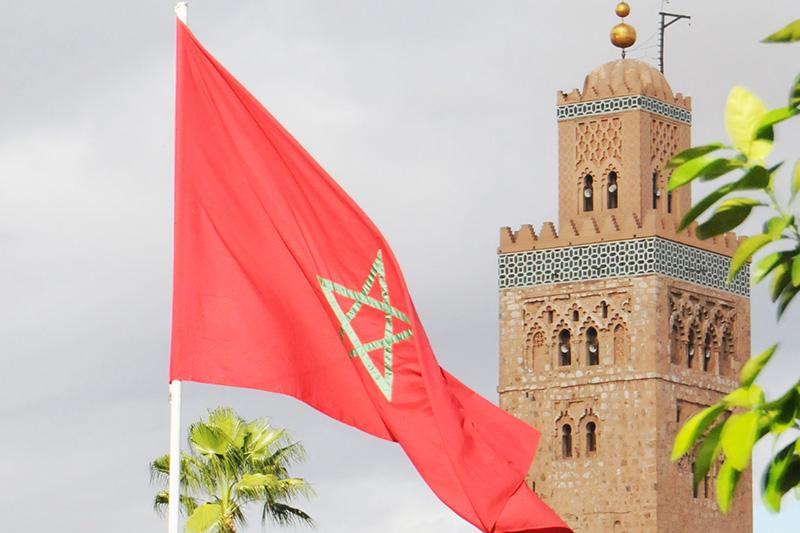 モロッコの国旗(写真:David Broad)