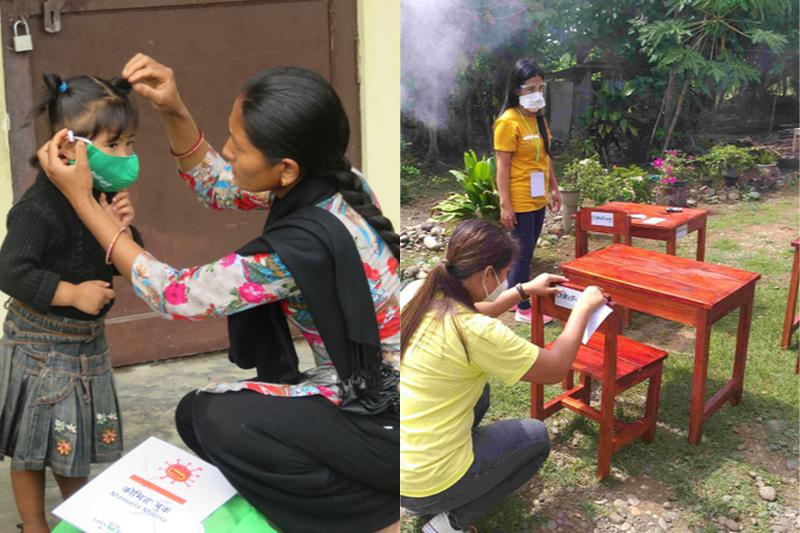 チャイルド・ファンド・ジャパンは、途上国の支援地域でマスクや消毒剤などの衛生キットを配布し、不安の中にいる子どもたちをケアしながら、学習環境の整備にも取り組んでいる。(写真:チャイルド・ファンド・ジャパン)
