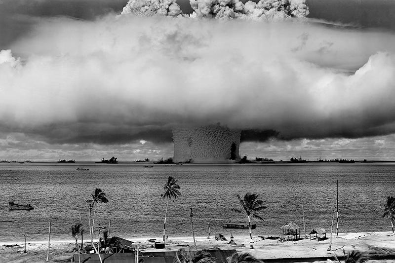 1946年7月に米国がビキニ環礁で行った核実験「ベーカー実験」
