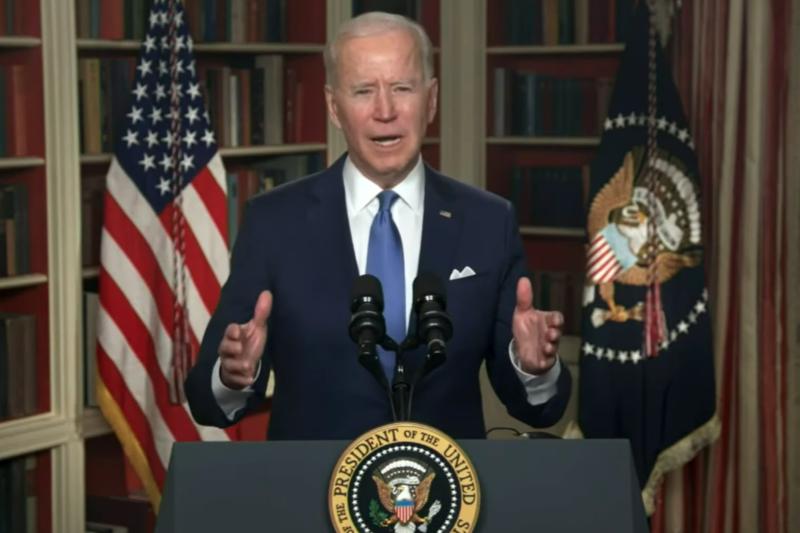 米国の第69回国家朝餐祈祷会で演説するジョー・バイデン大統領=4日