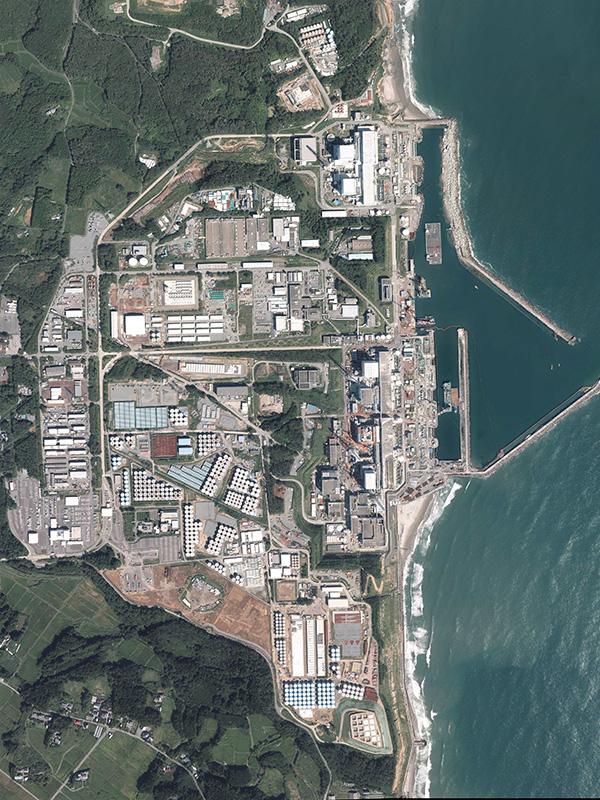 東京電力福島第1原発の航空写真=2013年9月18日(写真:国土地理院)