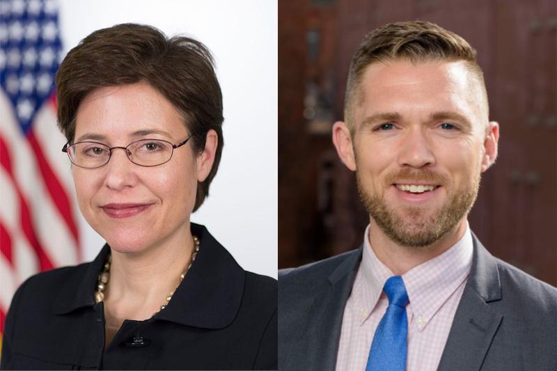 ジョー・バイデン米大統領から「信仰に基づく隣人パートナーシップ局」の局長に任命されたメリッサ・ロジャーズ氏(左、写真:Lawrence Jackson)と、副局長に任命されたジョシュ・ディクソン氏(右、写真:ディクソン氏のリンクトインより)