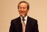 集会で講演するアジア福音同盟(EFA)のキム・サンボク議長=18日、お茶の水クリスチャンセンターで