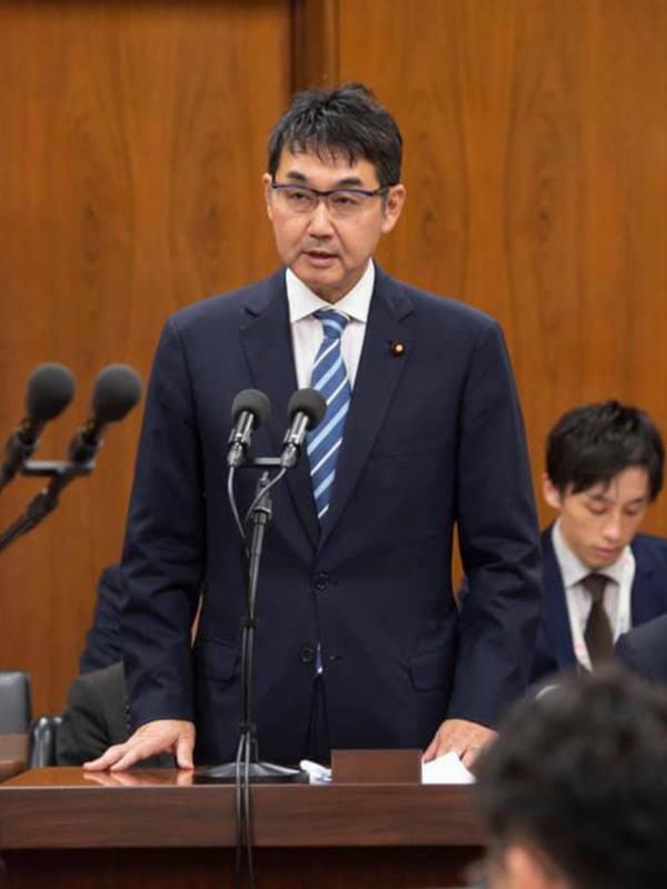 元法相の河井克行被告(写真:公式フェイスブックより)