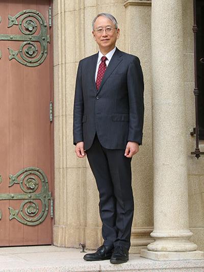 神戸女学院大学学長の中野敬一氏(写真:同大入学センター・広報室提供)