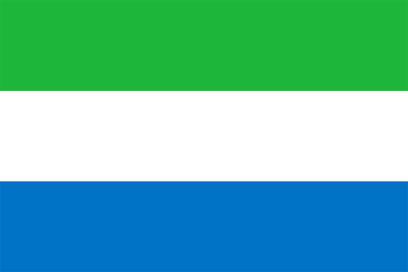 シエラレオネの国旗