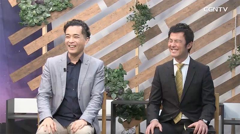 第3部の座談会で献身について語るヒルソングチャーチ東京の江口涼牧師(左)と大和カルバリーチャペルの坪井永城牧師