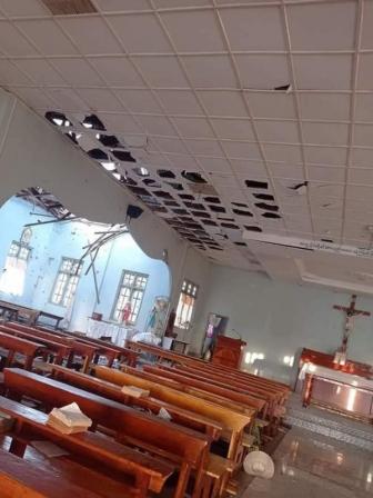 ミャンマー国軍、カトリック教会を砲撃 4人死亡 ヤンゴン大司教「人道的悲劇」