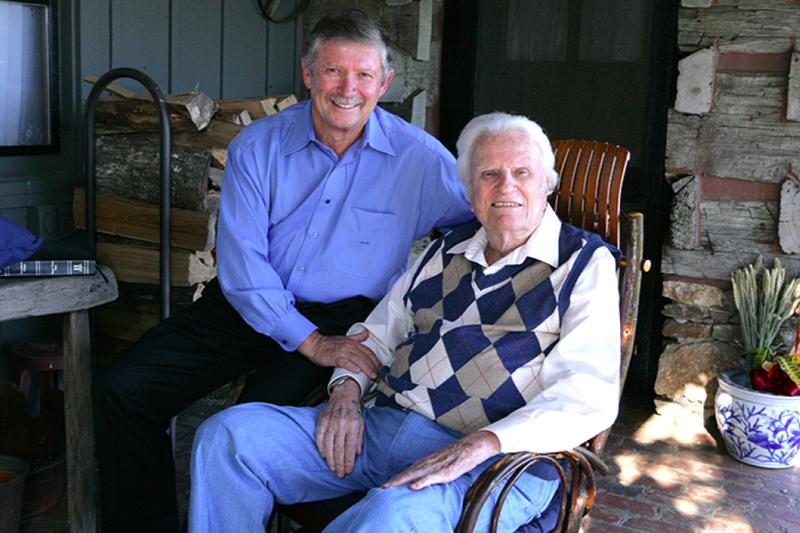 故ビリー・グラハム氏(右)とドン・ウィルトン牧師(写真:ビリー・グラハム伝道協会=BGEA)