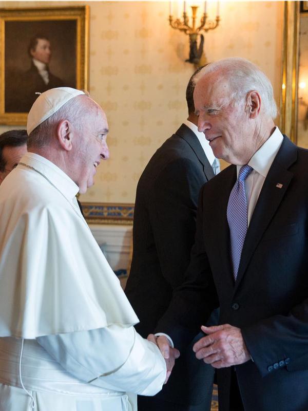 ローマ教皇フランシスコ、ジョー・バイデン