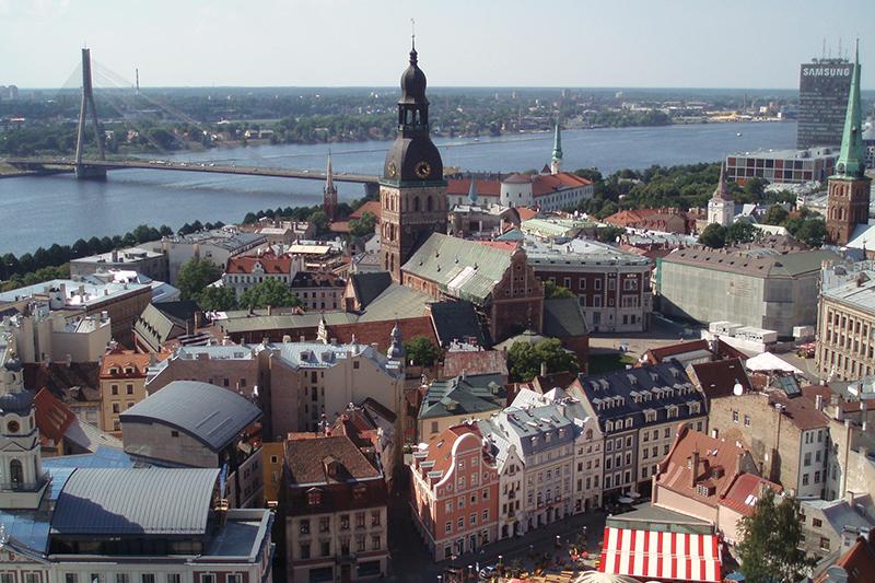 ラトビアの首都リガ(写真:David Holt)