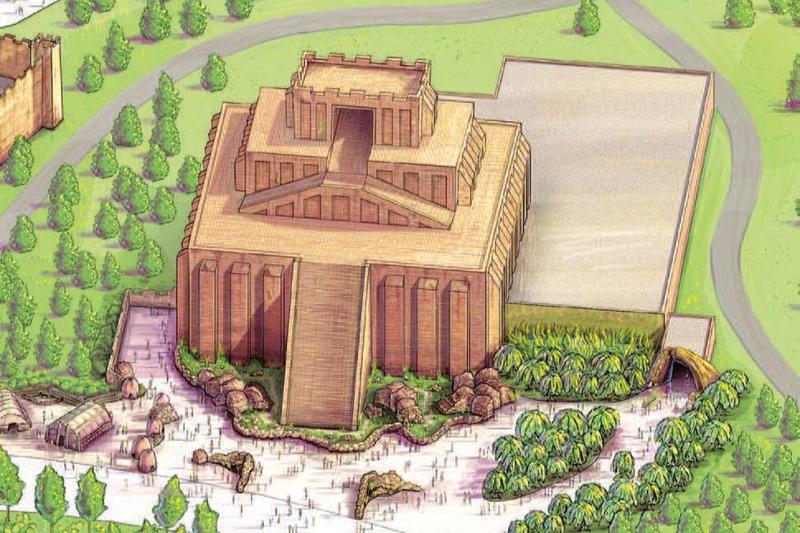 建設を計画している「バベルの塔」をモチーフにしたアトラクションのコンセプト図(図:アンサーズ・イン・ジェネシス=AiG)