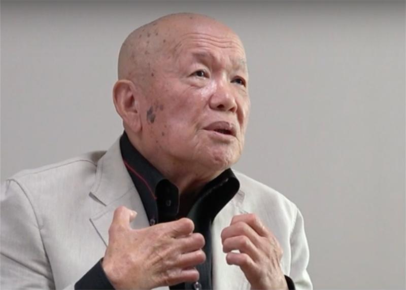 竪山勲さん(画像:国立ハンセン病資料館の動画より)