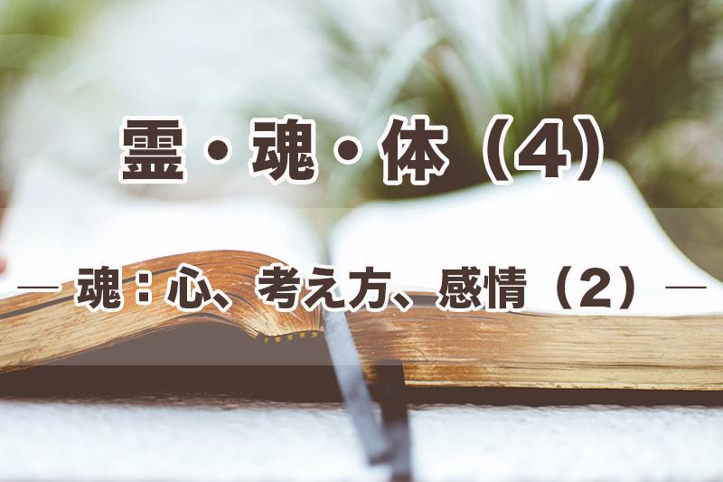 霊・魂・体(4)魂:心、考え方、感情(2) 加治太郎