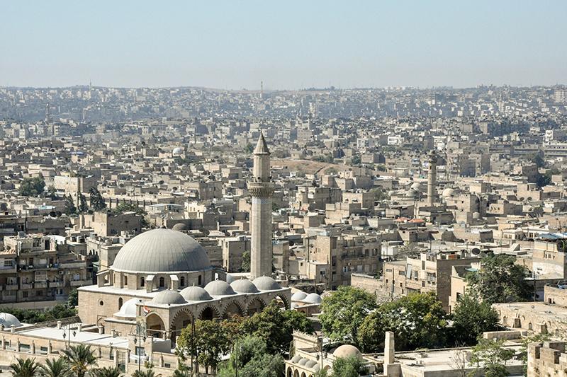 シリア北部の最大都市アレッポ(写真:Lazhar Neftien)