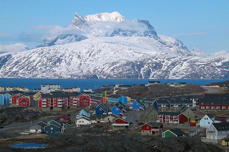 グリーンランドの最大都市ヌーク(写真:Oliver Schauf)
