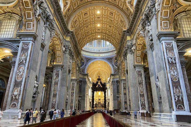 バチカンのサンピエトロ大聖堂
