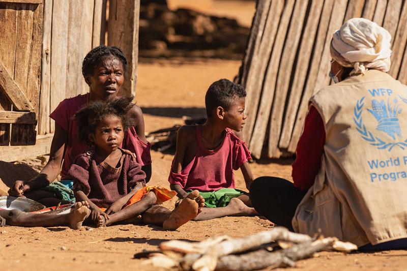 国連の世界食糧計画(WFP)によると、マダガスカル南部は今年、過去40年で最もひどい干ばつに遭い、114万人以上が食料難に見舞われている。(写真:WFP / Tsiory Andriantsoarana)