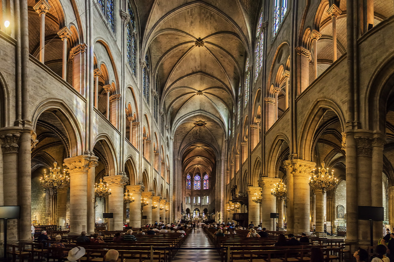 フランスの首都パリにあるノートルダム大聖堂。カトリック教会のパリ大司教座聖堂として使用されている。(写真:Chechi Peinado)