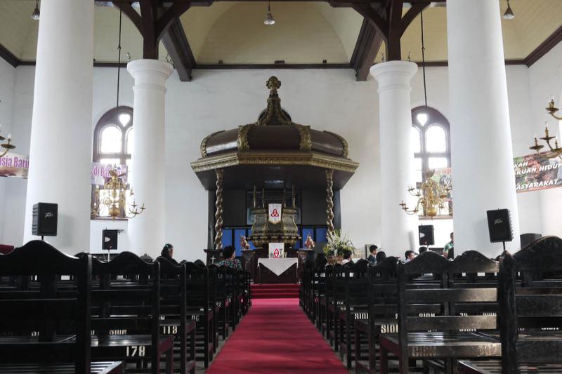 1695年に建築され、現存する教会堂としてはインドネシア最古と考えられている首都ジャカルタのシオン教会(写真:Seika)