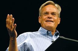 米ウィロー・クリーク・コミュニティー教会のビル・ハイベルズ主任牧師<br />