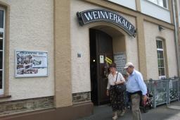 ラインランドプファルツのein Weinberg「ブドウ畑」近くにあるワインの直売所。中に入るとワインの歴史にも少し触れることが出来る