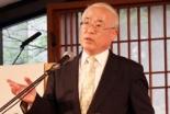 昨年の大会で講演する山北宣久氏=2010年4月11日、東京・大久保の淀橋教会で