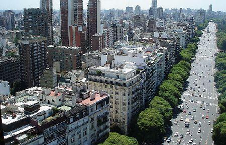 アルゼンチン首都ブエノスアイレスの様子。