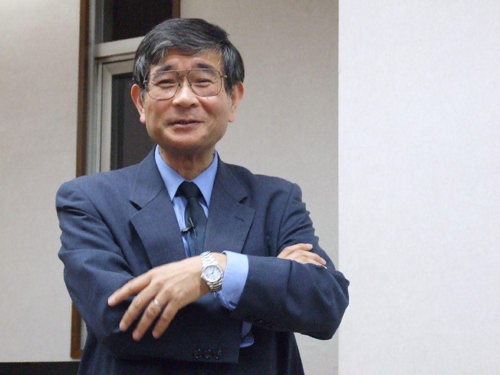 「がん哲学」についてセミナーを行った樋野興夫氏=2011年5月19日、東大YMCAで