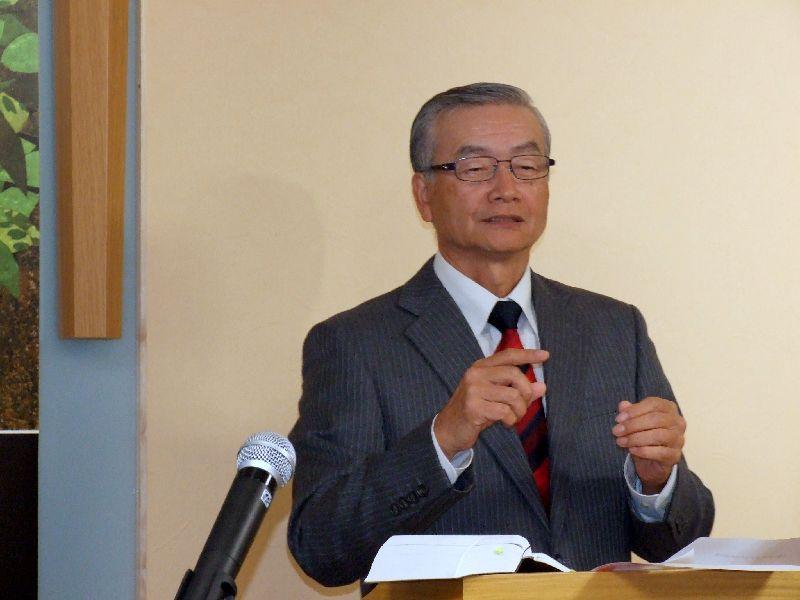 はれるや・デフ・スポーツ伝道団鷲尾繁牧師、2011年11月17日、OCC(東京都千代田区)で。