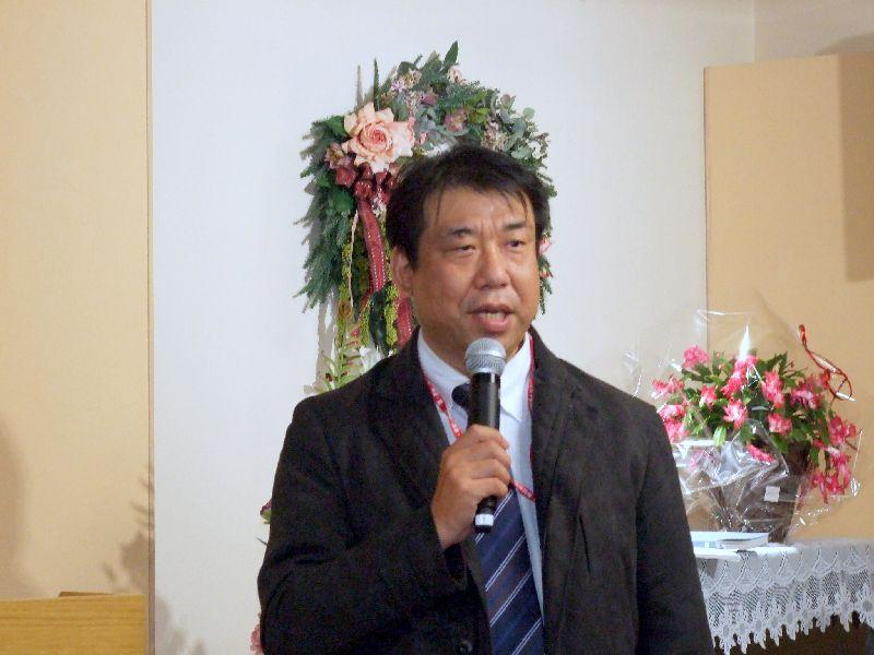 基督聖協団西仙台教会中澤竜生牧師、2011年11月17日、OCC(東京都千代田区)で。