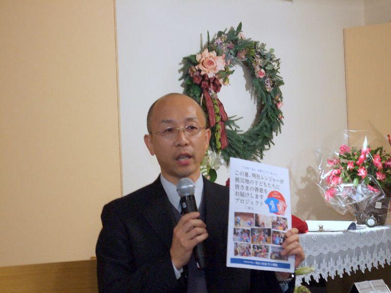 NPO全国明るい社会づくり運動事務局広報竹嶋克之氏、2011年11月17日、OCC(東京都千代田区)で。