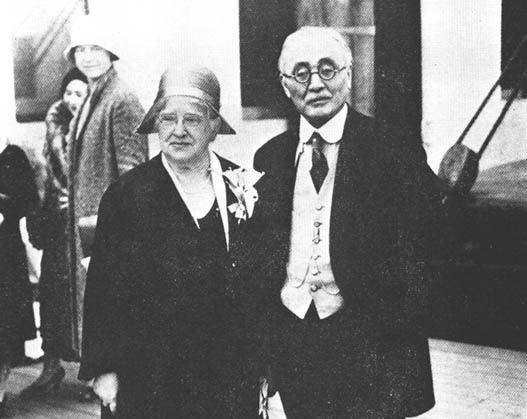 新渡戸稲造とメリー夫人。