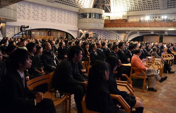 記念礼拝に全国から集まったキリスト者ら=17日、東京都新宿区のウェスレアン・ホーリネス教団淀橋教会で