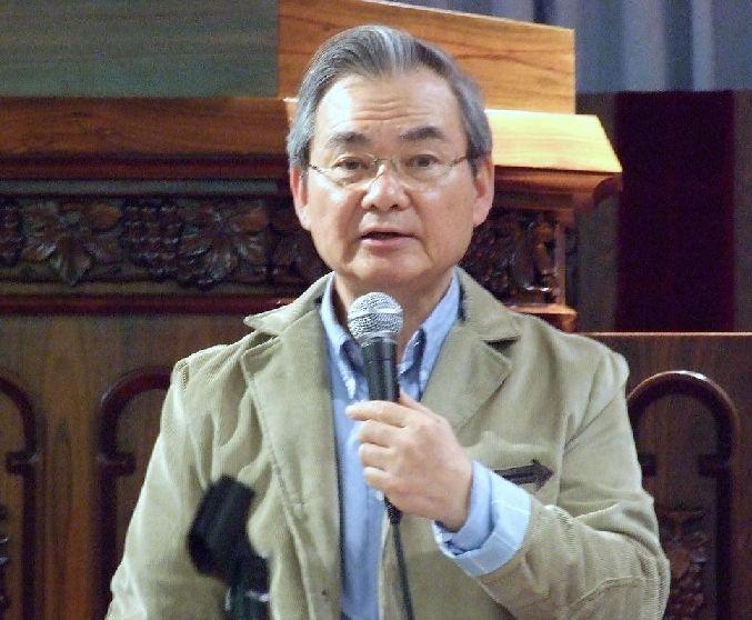 ハーベスト・タイム・ミニストリーズ代表中川健一氏=17日、東京中央教会(東京都新宿区)で