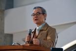 「基本に立ち返る」と題して講演する中川健一氏=20日、東京都新宿区の淀橋教会で