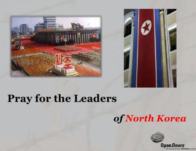 米オープン・ドアーズ北朝鮮への祈り資料より