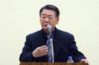 ベタニアチャーチ長老の吉田芳幸氏。2012年4月18日、北とぴあカナリアホール(東京都北区)で。