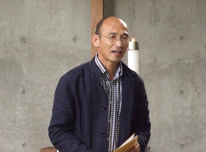 「黙想と祈りの集い準備会」世話人代表植松功氏=4月30日、牛込聖公会聖バルナバ教会(東京都新宿区)で