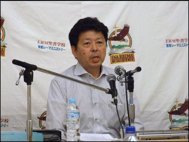 岩手県「家の教会こひつじ」竹内幸司氏が被災地の現状報告を行った。2012年5月5日。