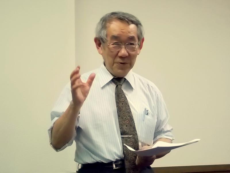幡ヶ谷キリスト教会牧師住田裕氏。2012年6月8日、同教会(東京都渋谷区)で。