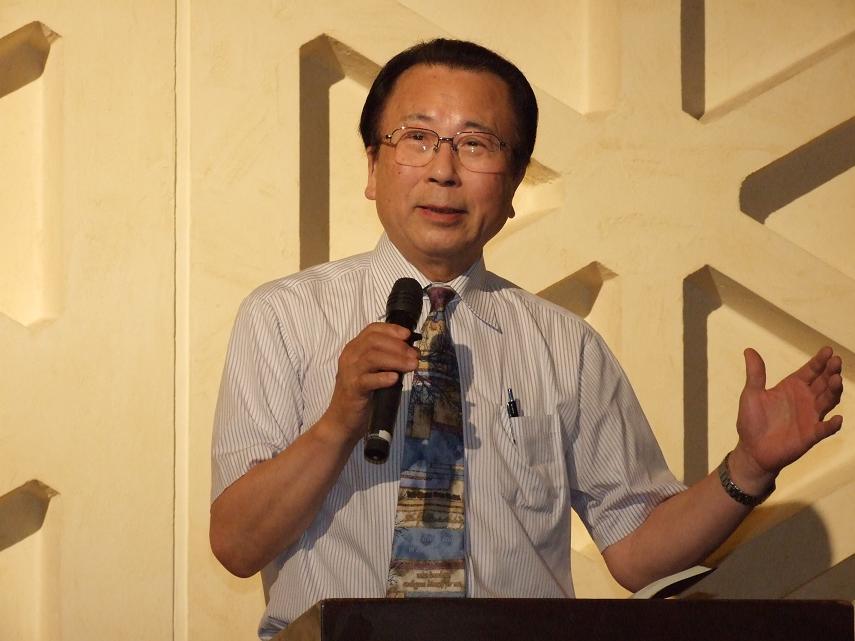 榊原寛氏、2012年7月11日、淀橋教会(東京都新宿区)で。