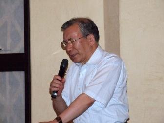峯野龍弘氏、2012年7月11日、淀橋教会(東京都新宿区)で。