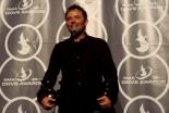 「最優秀アーティスト賞」、「最優秀男性ボーカリスト賞」など6部門を獲得したクリス・トムリン=25日、米ナッシュビルで