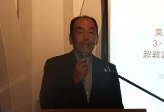 山形南部教会役員の川上悟氏。2012年9月11日、淀橋教会(東京都新宿区)で。